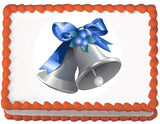 Silver Bells Christmas Edible Cake, Cupcake & Cookie Topper