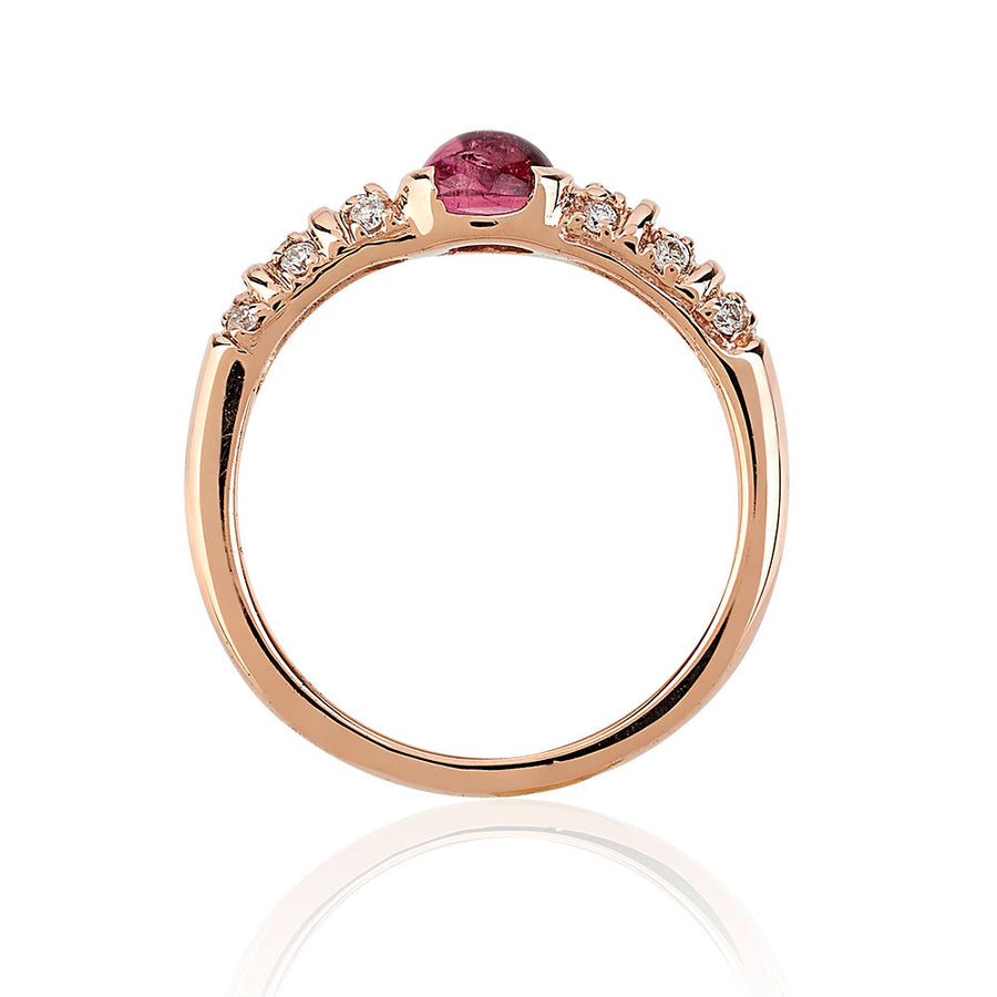 Blongy Baby Ring in Rose Gold and Pink Tourmaline