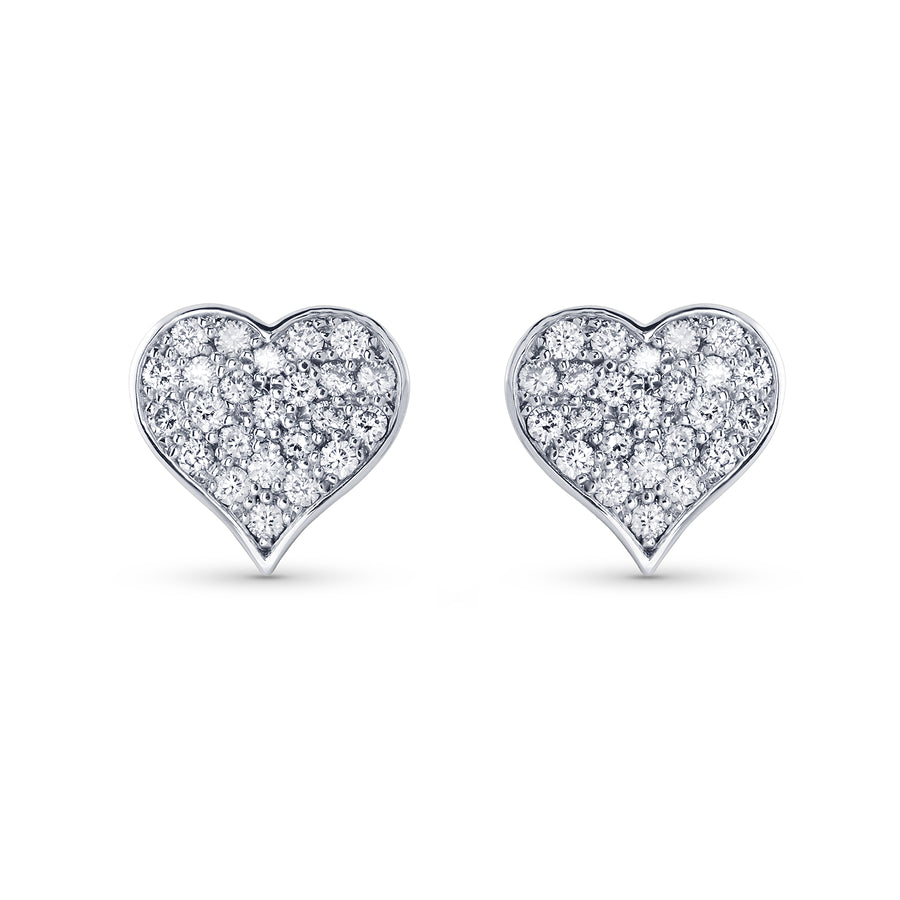 Pure Heart Stud Earrings
