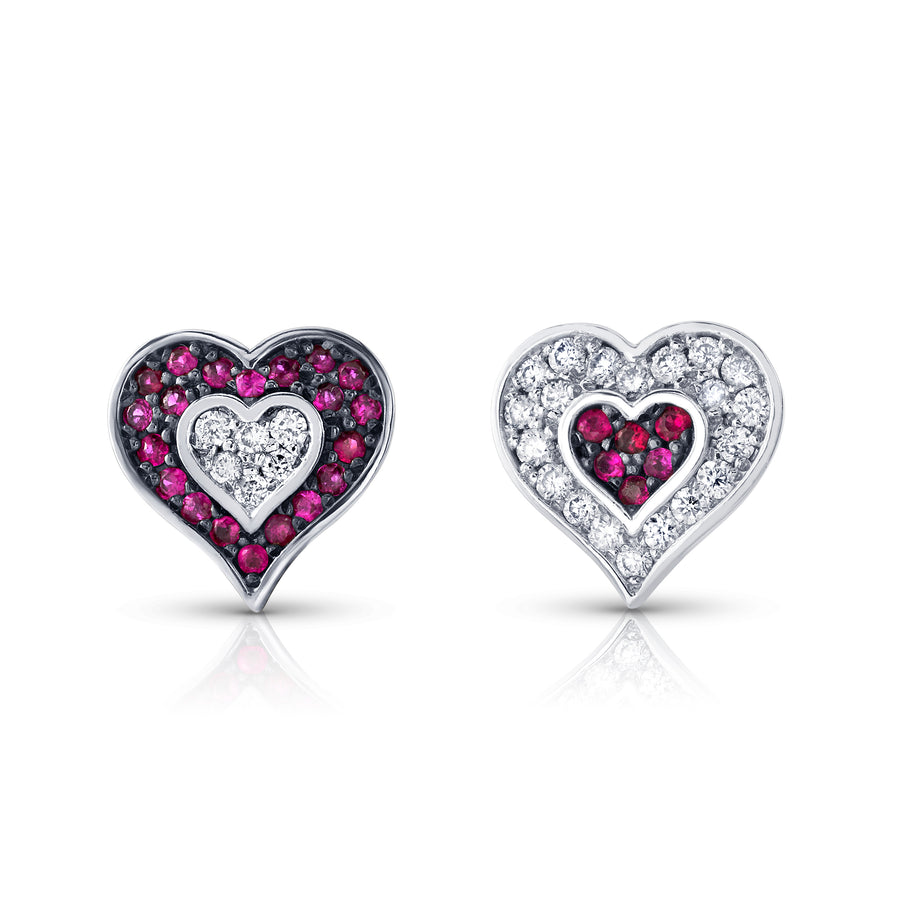 Cross My Heart Stud Earrings