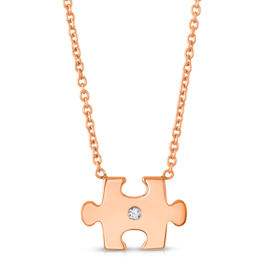 Puzzled Pendant in Rose Gold