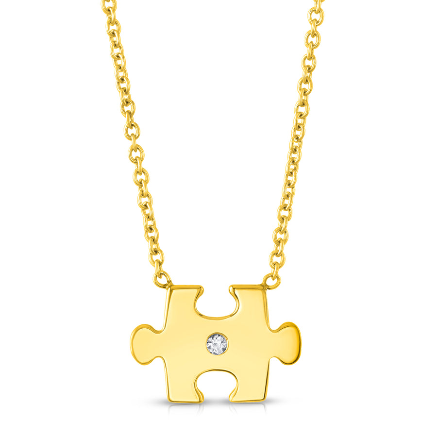 Puzzled Pendant in Yellow Gold