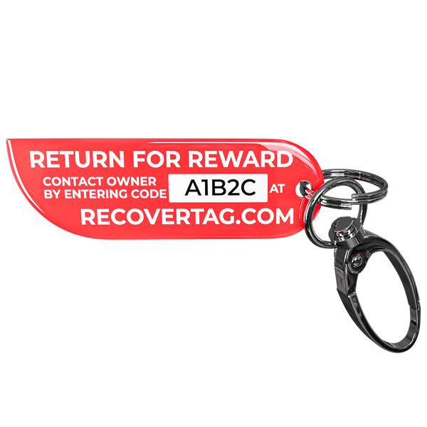 Recovertag Keychain Lost and Found Tag