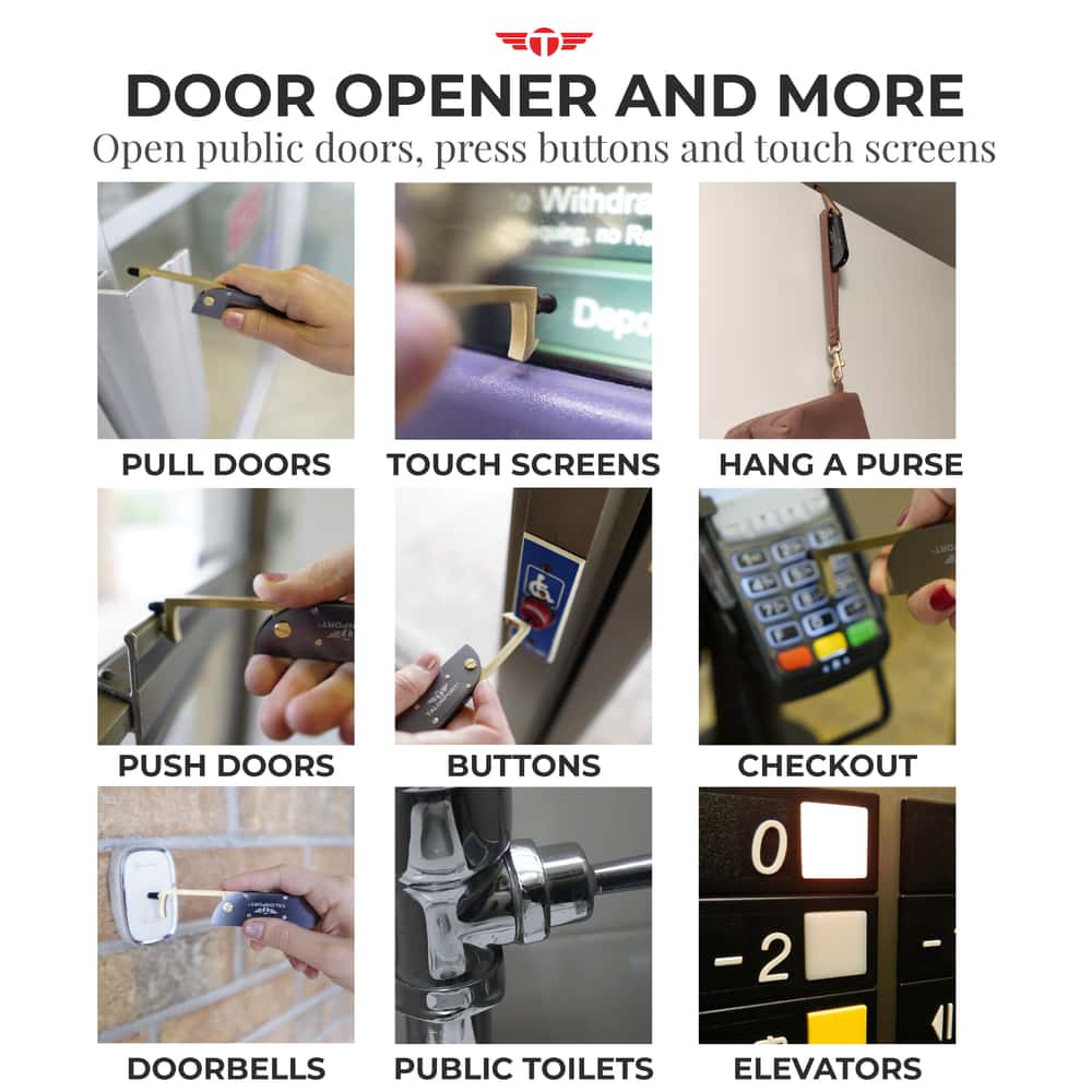 Talontag 2.0 Covered No Touch Door Opener Tool With Stylus