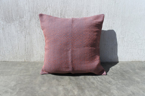 Terracotta Chevron Pillow