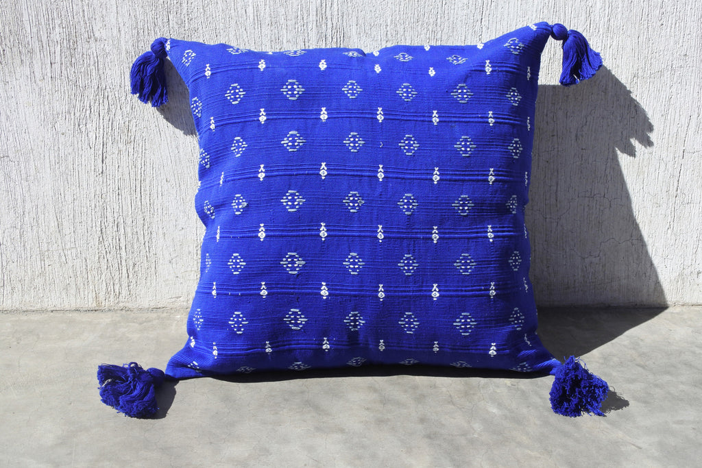 Blue Lirio Pillow