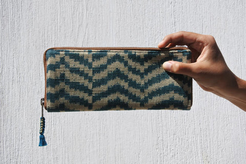 Blue Teal Atitlán Wallet