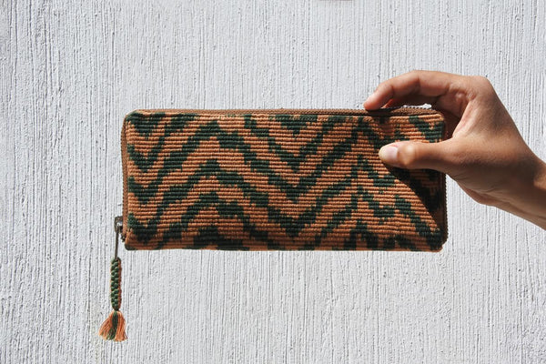 Navy Green Atitlán Wallet