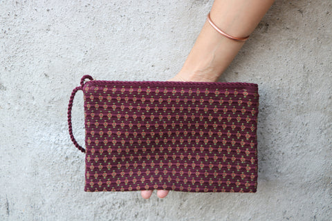Flowers Simple Clutch in Bamboo Rainforest