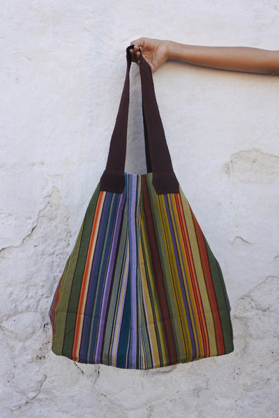 Large Shopping Bag in Stained Glass