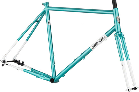 Cadre All-City Super Professional en acier Chromoly 612 Select en bleu Blue Panther