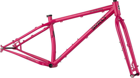 Cadre Surly Ice Cream Truck Fatbike en Acier Chromoly 4130 Rose Prickly Pear