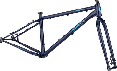 Cadre Surly Wednesday Omniterra Fat Bike Fatbike Frame Frameset Montréal Québec Canada Vélos Roy-O #surly #surlymakeityourown couleur bleu Blue Monday