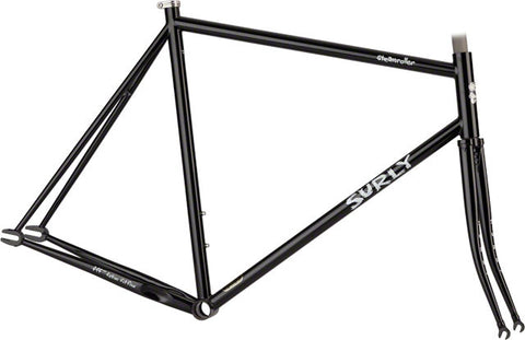 Cadre Vélo Cromoly Surly Steamroller Fixe Fixie Fixed Frame Montréal Québec Canada Frameset #surly #surlybikes #surlymakeityourown #velosroyo