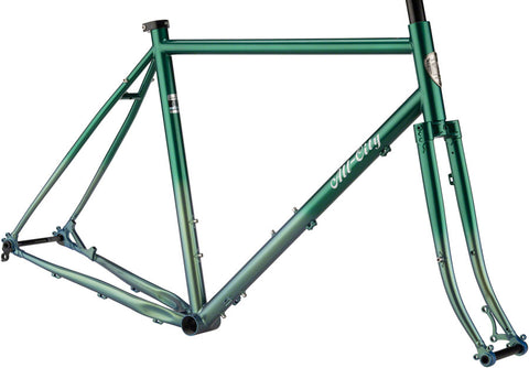 Ensemble Cadre et Fourche All City Cycles Gorilla Monsoon Green Fade 2019 en acier cromoly 612