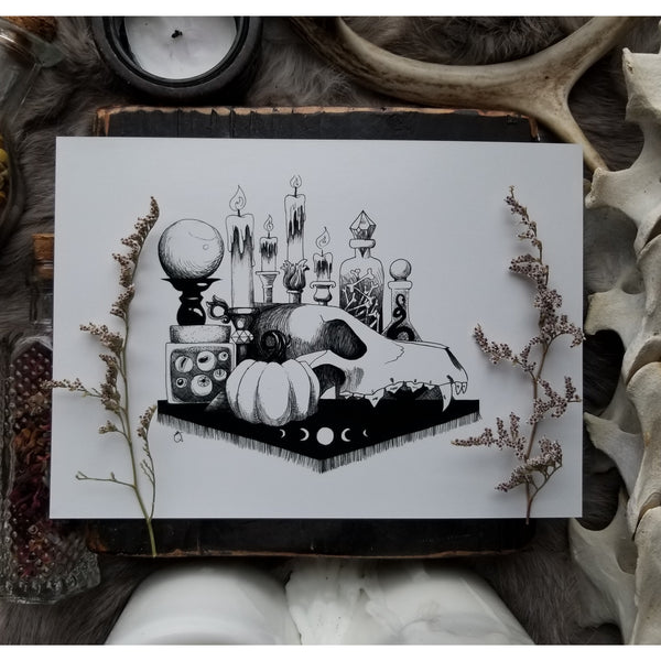 Witch's Altar Art Prints 5x7 and 8x10
