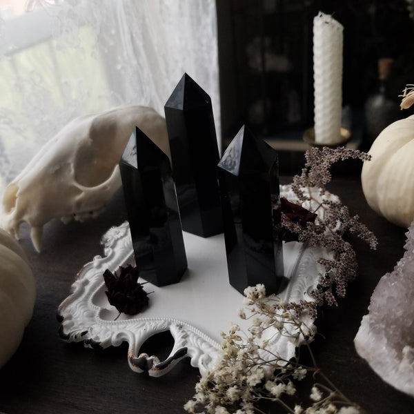 Obsidian Crystal Towers