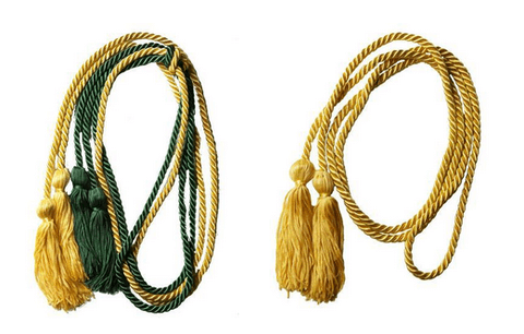 Green and Yellow graduation Honor Cords