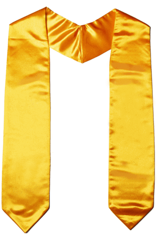 The Honor Cord Co. blank Graduation stole and graduation sash