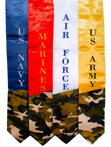 Veterans Military Branch Stole - Embroidered