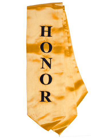 The Honor Cord Company Embroidered Graduation Stole