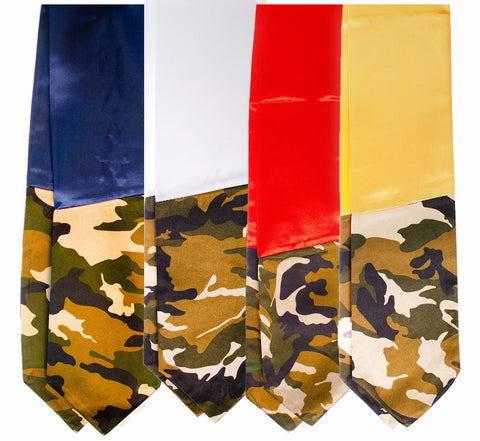 Veterans Military Branch Stole - Solid Color