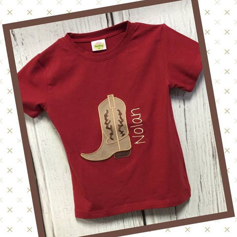 Applique Boot Tee Shirt