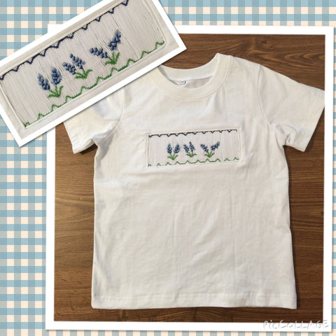 Smocked Bluebonnet Smocked Tee Shirt