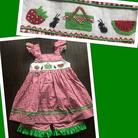 Picnic Smocked Short Set