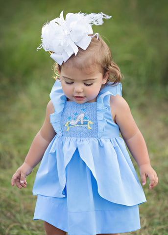 Glass Slipper Princess Smocked Dress