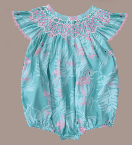 Flamingo Smocked Bubble