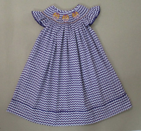Purple Tiger Smocked Dress