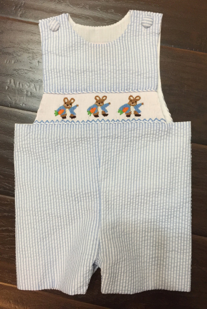 Peter Rabbit Inspired Smocked Shortall