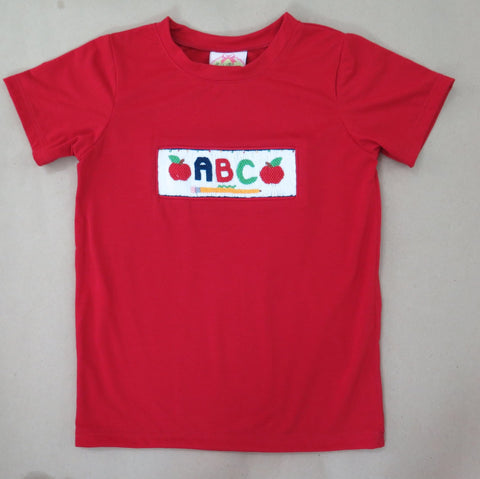 ABC  Red Smocked Tee 18