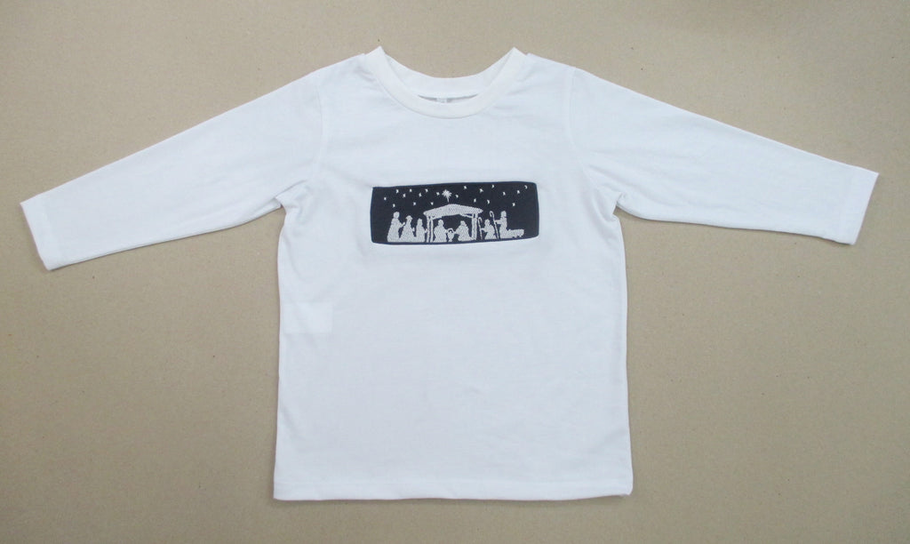 Navy Nativity Tee Shirt