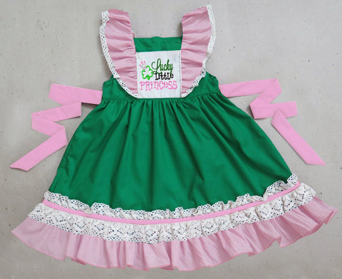 Little Lucky Princess Lace Embroidered Dress - PRE SALE SHIP JANUARY