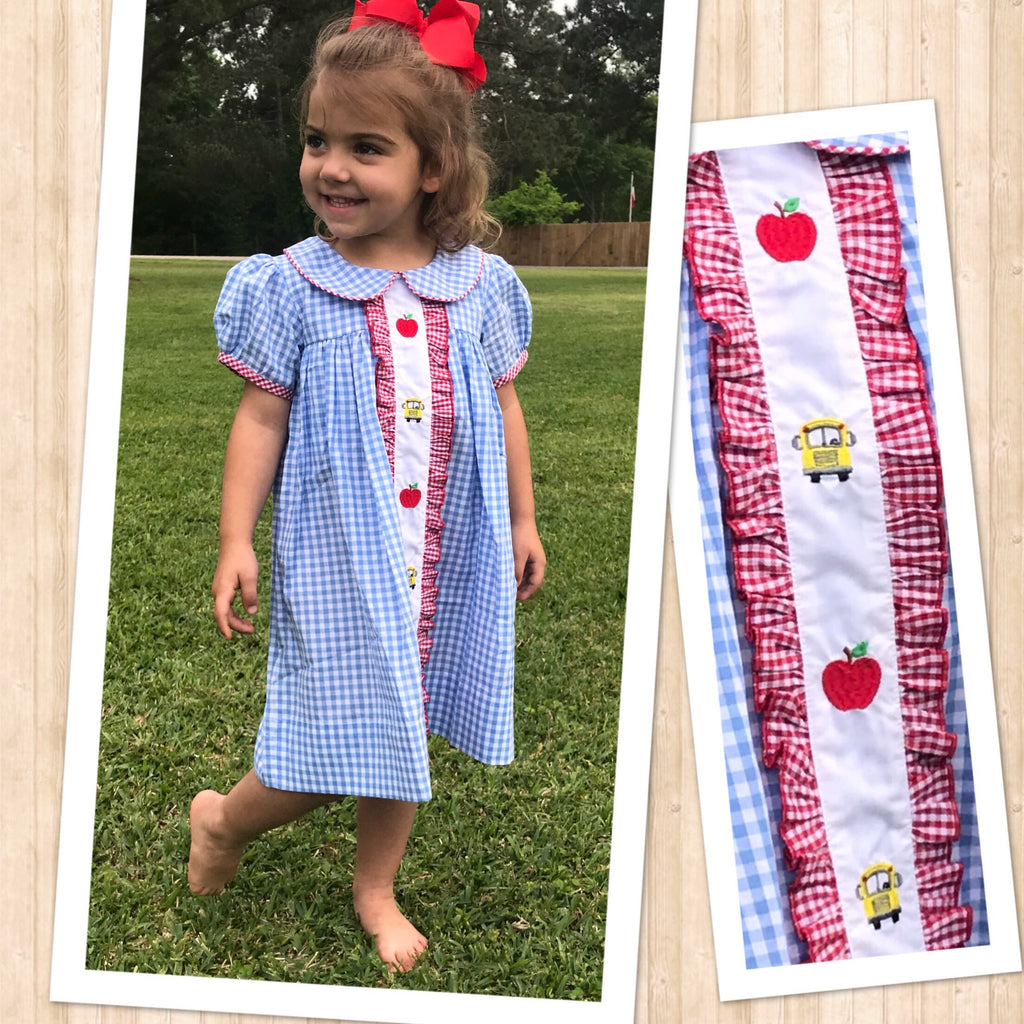Ruffle Front School Bus Dress