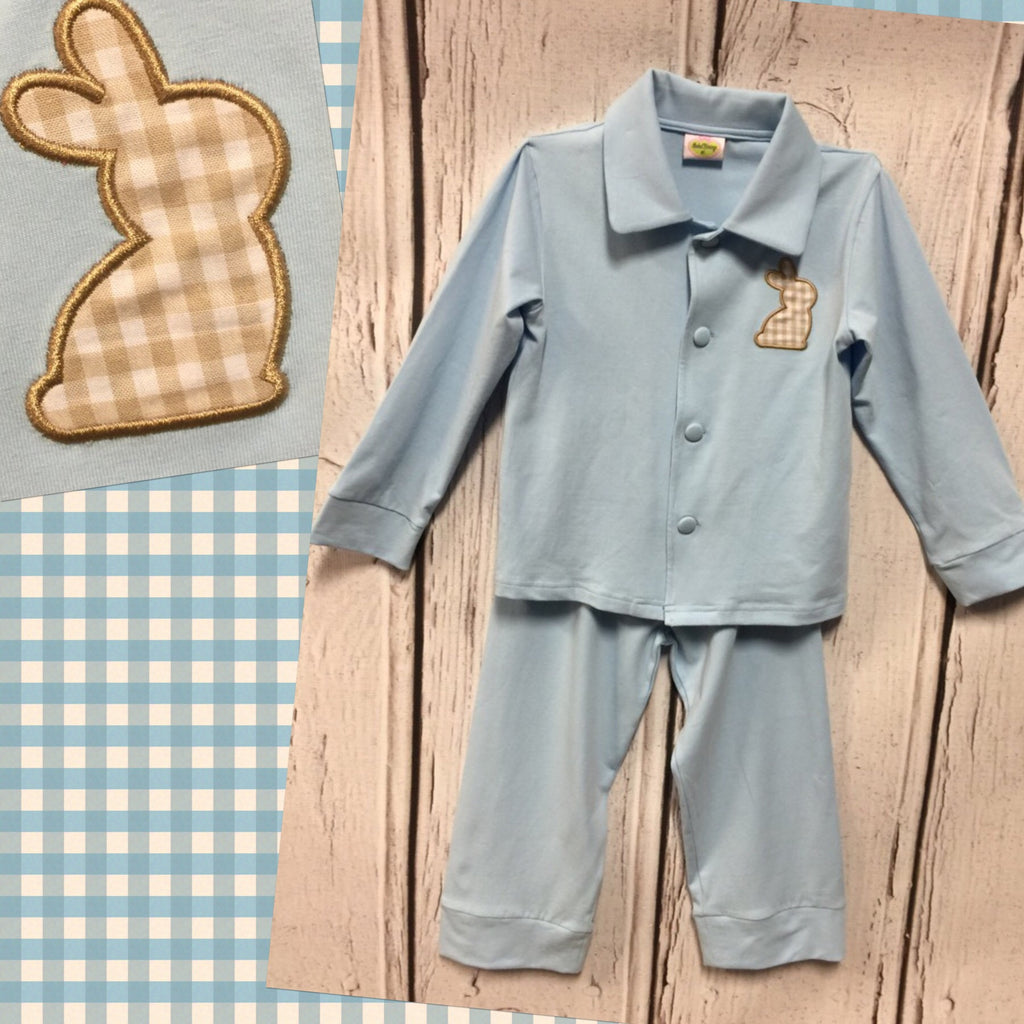 Blue Bunny Button Down Lounge Wear