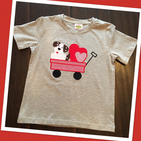 Boys Puppy Love Wagon Tee