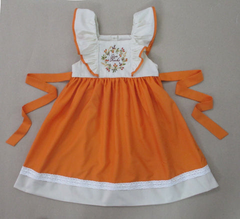 Give Thanks Orange Tie Back Dress