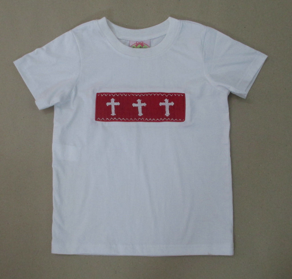 Red Cross Smocked Tee Shirt