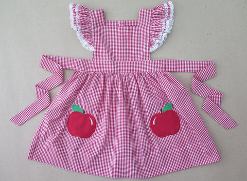 Red Gingham Apple Vintage Dress