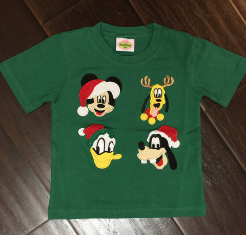 Knit Mouse Friends Christmas Tee - Ready to Ship