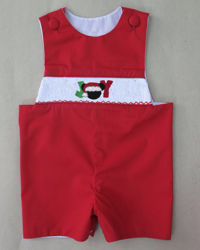 Red JOY Mouse Smocked Longall