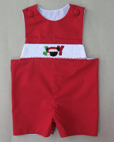 Red JOY Mouse Smocked Longall - PRE SALE SHIP BY BEGINNING OF NOVEMBER