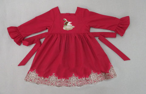 Winter Swan Red Lace Dress  - PRESALE SHIPPING BY END OF OCTOBER