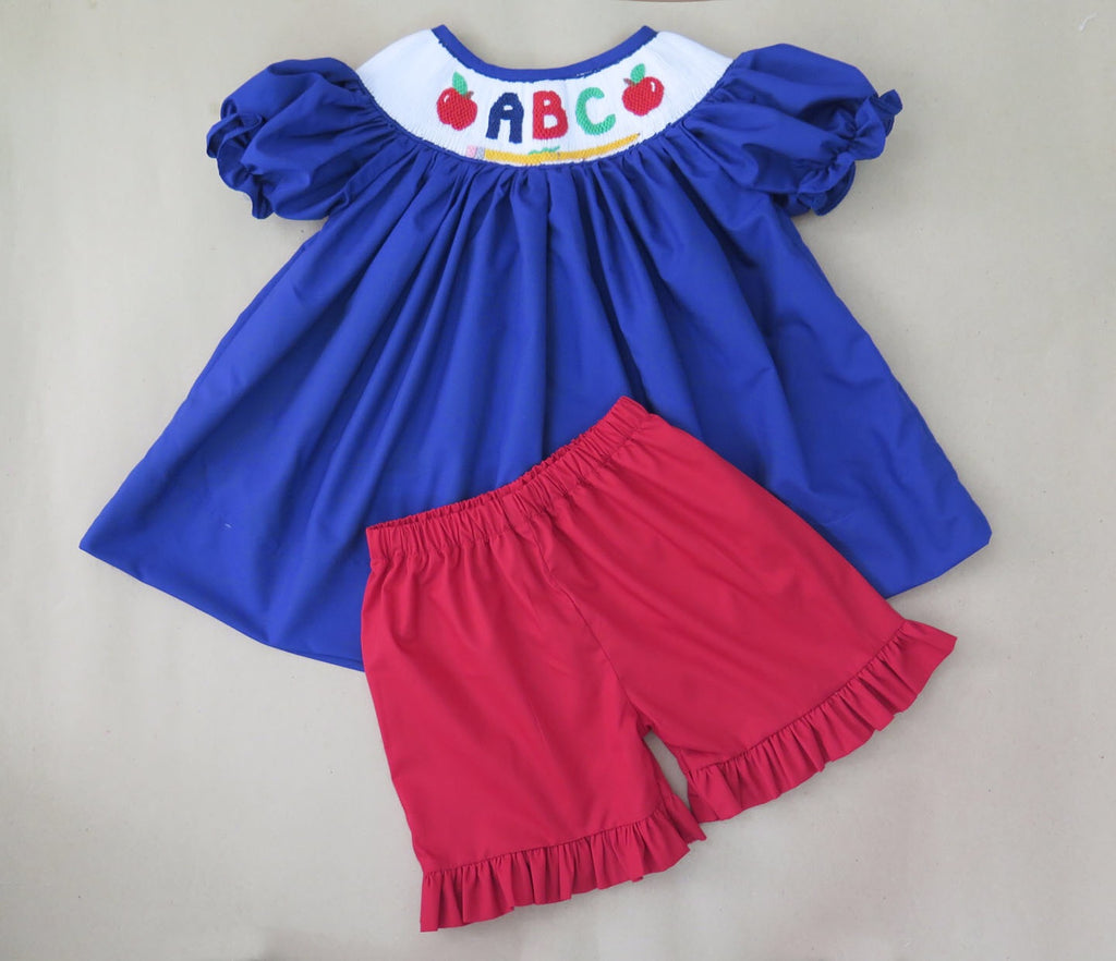 ABC Smocked Short Set 18