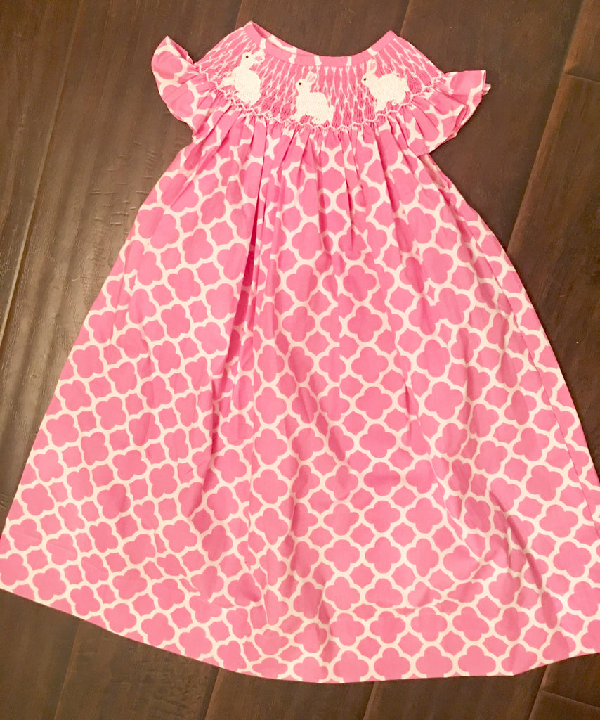 Pink Quatrafoil Bunny Dress