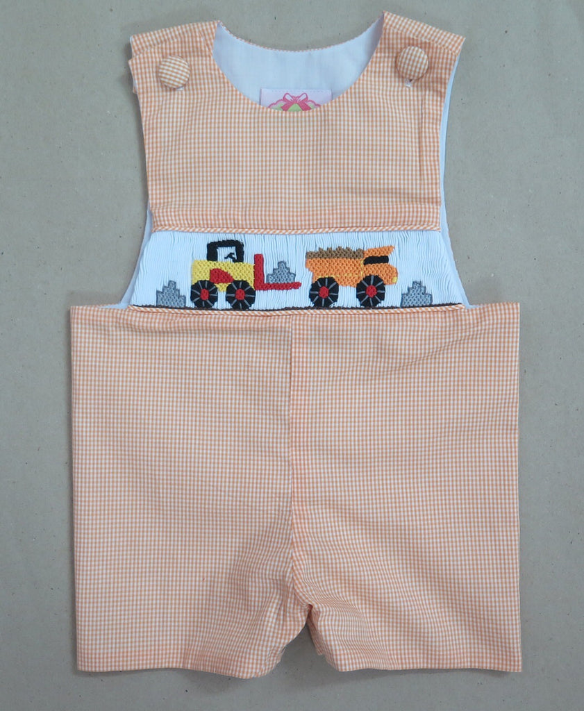 Construction Orange Check Shortall