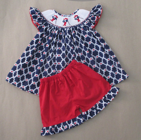 Colonel Reb Smocked Short Set